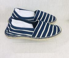 La Manual Alpargatera Barcelona Blue/White Striped Ladies Espadrille EUR42