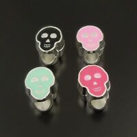 38167 Fashion Multi Color Alloy Skull Charms Beads Finding 25PCS