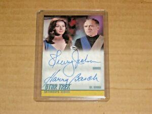 STAR TREK TOS HEROES & VILLAINS SHERRY JACKSON HARRY BASCH DUAL AUTOGRAPH DA25