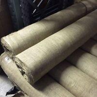 "5M Natural hessian jute sack fabric SOLD / METRE 54"" WIDE upholstery - garden"