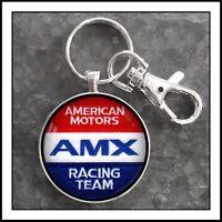 AMX Racing Team Shoulder Patch Photo Keychain AMC American Motors Javelin Gift