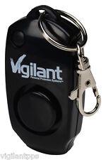 Vigilant 130dB Rape Attach Personal Alarm & Whistle Black + Key Ring (PPS-23BLK)