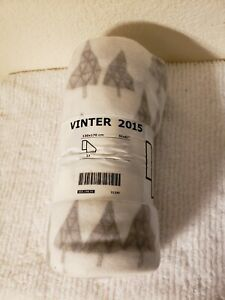"New IKEA Vinter 2015 51""x61"" Triangle Trees Fleece Throw Blanket NWT"