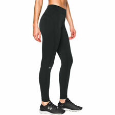 Under Armour UA ColdGear Womens Black Fitted Sports Gym Running Leggings