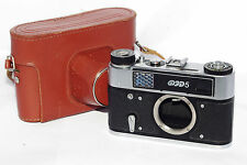 FED-5 Russian Rangefinder 35mm Camera USSR BODY only M39 case Good Cond