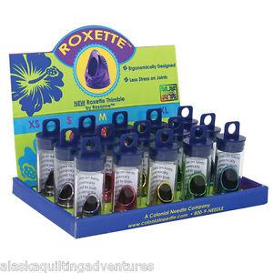 ROXETTE THIMBLE ~ Ergonomically Desiged Thimble ~ 5 Sizes: XS - S - M - L - XL