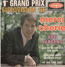 45T EP: Udo Jurgens: merci chérie + 3 titres. vogue