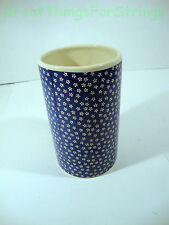 "Medium Navy Blue Floral Flower Vase Ceramic Bouquets Diameter 3.5"" Height 6"""
