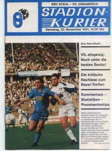 II. BL 91/92 BSV Stahl Brandenburg - VfL Osnabrück, 30.11.1991