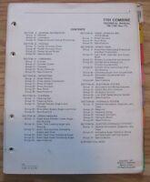 John Deere 7701 Combine Technical Repair Service Manual TM1180 jd Issued 1977