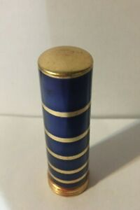 VINTAGE TUSSY LIPSTICK-APRICOT BRANDY-BLUE AND GOLD CASE