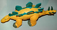 "Stegosaurus Dinosaur Fisher-Price Imaginext Yellow Green 2011 Mattel 14.5"" Long"