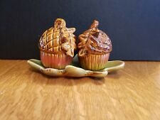 Acorn Salt And Pepper Shakers With Leaf Tray Tii Collections H7567