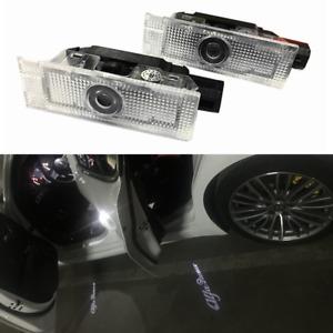 2x Car Door LED Shadow Puddle Courtesy Light Projector For Alfa Romeo Giulietta