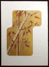 "Ken Nelson ""Autumn Bamboo"" Hand Signed Ltd Ed Serigraph w/ Embossing"