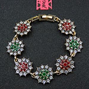 Betsey Johnson Fashion Jewelry Pretty Flower Crystal Bangle Bracelet