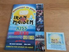 MONSTERS OF ROCK IRON MAIDEN CONCERT PROGRAMME AND TICKET
