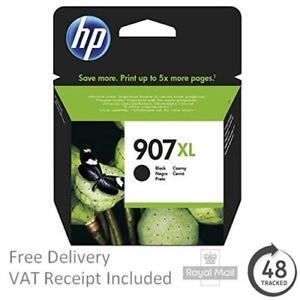 Original HP 907XL (903XL Extra High Capacity) Black Ink Cartridge T6M19AE (2018)