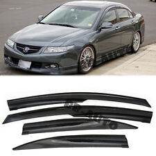 For 04-08 Acura TSX Mugen Style Smoke Tinted Window Frame Visors Rain Guards CL9