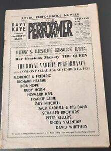 1954 Peter Sellers Donald Wolfit Noel Coward Frankie Howerd Performer Magazine