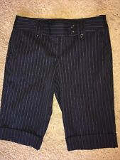 Bermuda Shorts Size 3 Blue Pinstripe Tracy Evans Ltd EUC Womens Juniors