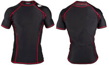 New Clinch Gear Black Short Sleeve Signature Tech Top Mma Rash Guard Shirt - Xl