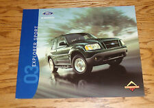 Original 2003 Ford Explorer Sport Sales Brochure 03 XLS XLT