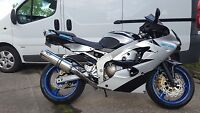 Kawasaki ZX6R 98-02 G-A1P Stainless round Road Legal Motorbike Exhaust Can