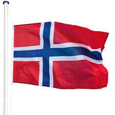 Mât de drapeau aluminium 625 cm drapeau Norvège avec kit jardin drapeaux blason