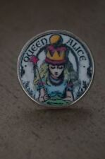 "NEW Tarina Tarantino RARE Alice n Wonderland Queen Alice Large 1.5"" Round Ring 7"