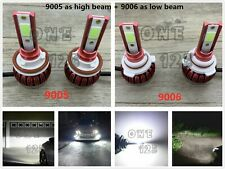 9005+9006 Combo LED Headlight Bulb Kit High Low Beam Super Bright 6000K white
