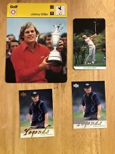 Johnny Miller Golf Cards Upper Deck 2002 Gold And Silver Oversized Italian Card