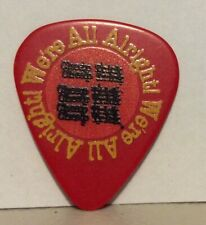 Rick Nielsen We'Re All Alright Tour 2019 Red Guitar Pick Picks Cheap Trick Rare