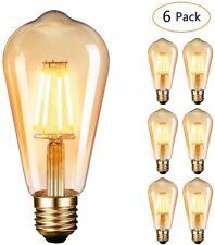 (PACK 6 pz) Lampadina LED Vintage Retrò Edison 4W 220V E27 2700K 400LM Classe A+