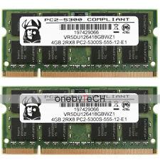 New 8GB (2x4GB) 2Rx8 PC2-5300S DDR2-667Mhz 200-pin Laptop Memory Module NON-ECC