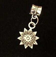 Sun Flower Dangle European Beads For Snake Chain Charm Bracelet