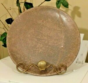 """PETER'S Pottery Mound Bayou Mississippi McCarty Protege NUTMEG 10"""" DINNER PLATE"""