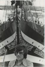Italia, barca a vela Vintage  Tirage argentique  20x30  Circa 1969