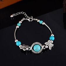 Bracelet Butterfly Jewelry Turquoise Women's Fashion Jewellery Silver Colored