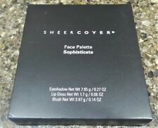 SEALED Sheer Cover FACE PALETTE SOPHISTICATE Eye Shadow LIP GLOSS Blush NEW