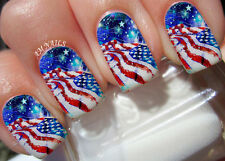 American Flag Nail Art Stickers Transfers Decals Set of 22