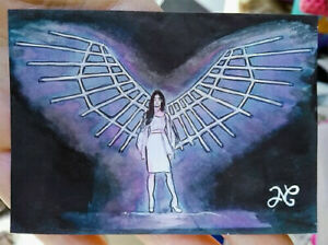Original Drawing Video CLC(씨엘씨) HELICOPTER Portrait Young Girl Wings Light Angel