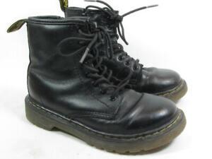 Dr Marten Delaney Ankle Boot 8 Eye Toddler Boy Girl Size 13 Black Leather