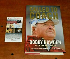 Rare BOBBY BOWDEN Signed CALLED TO COACH Book-FLORIDA STATE-JSA Authenticated