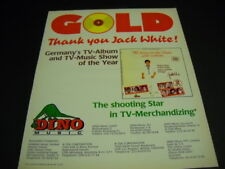 Jack White Germany Tv Album & Tv Music Show Of Year 1986 Promo Poster Ad mint c.
