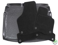 VW GOLF mk5 / mk6 HTB 2003 -2012 Tailored black floor car mats + boot tray mat