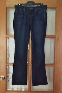 GUESS Marciano Low Rise Boot Leg Stretch Dark Denim Jeans Size 26 8