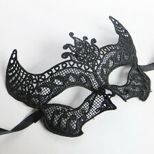 Womens Hollow Black Lace Eye Mask Masquerade Party Ball Jewelry Festival Costume