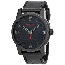 Nixon Patriot Black Dial Mens Leather Watch A938-2298