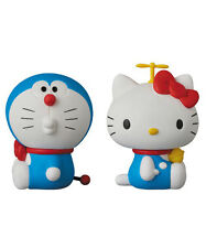 MEDICOM TOY DORAEMON meets HELLO KITTY UDF Figure Japan 2 pc SET